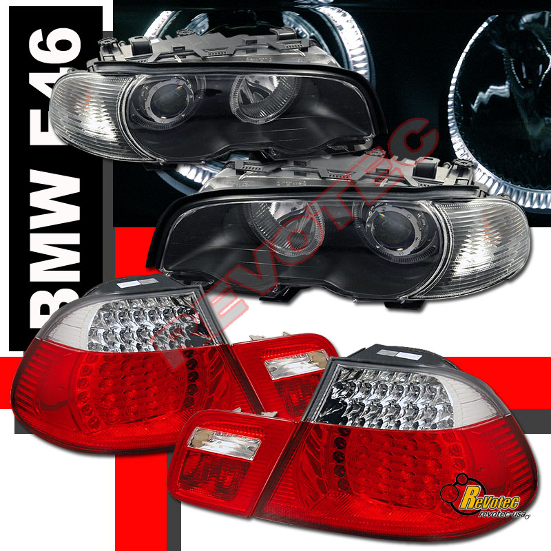 Bmw Z3 Tail Lights: 00-02 BMW E46 328ci 2DR Coupe Halo Projector Headlights