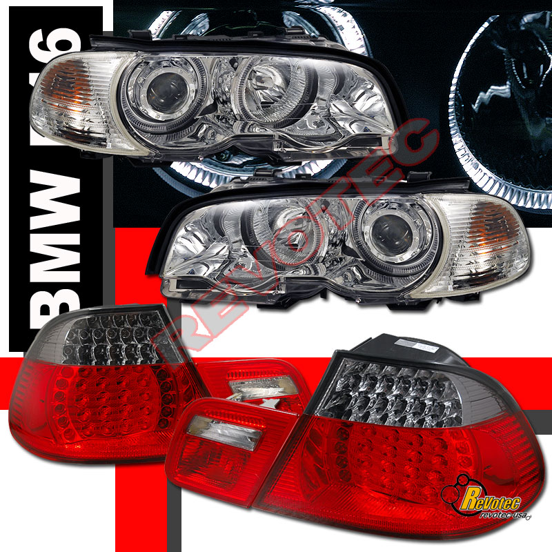Bmw Z3 Tail Lights: BMW E46 330ci 2DR Coupe Halo Projector Headlights & Corner
