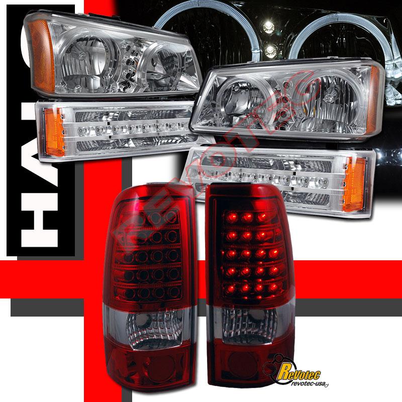 2006 Acura Tl Tail Lights For Sale: 2003-2006 Chevy Silverado SS LT Z71 Halo Headlights LED
