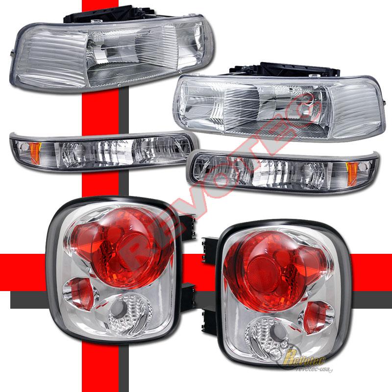 99 02 Chevy Silverado Stepside Headlights Bumper Signal