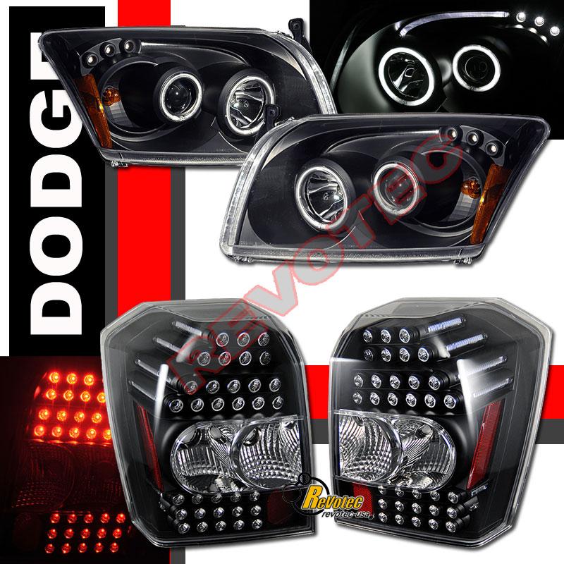 07 09 Dodge Caliber Srt4 Ccfl Halo Black Projector
