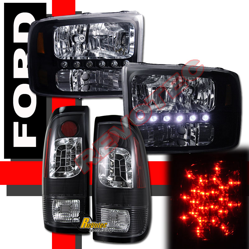 99 04 Ford F250 F350 Super Duty Pickup Led Headlights