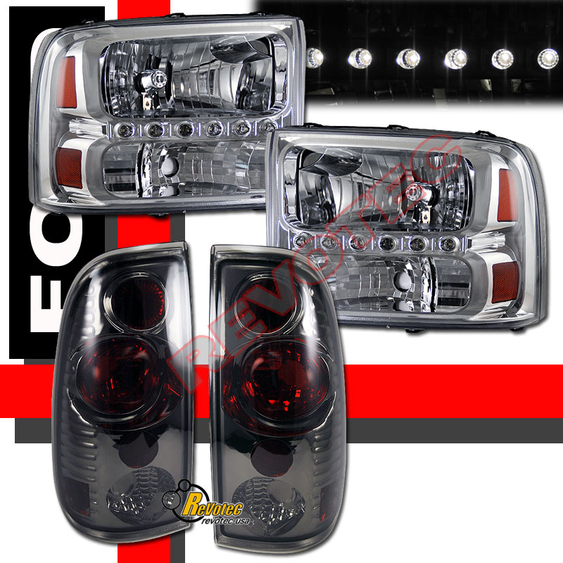 99 04 Ford F250 F350 Super Duty Pickup Chrome LED