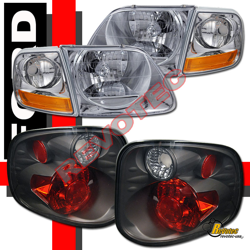 2001 2003 ford f 150 f150 svt supercrew harley davidson headlights tail lights ebay. Black Bedroom Furniture Sets. Home Design Ideas