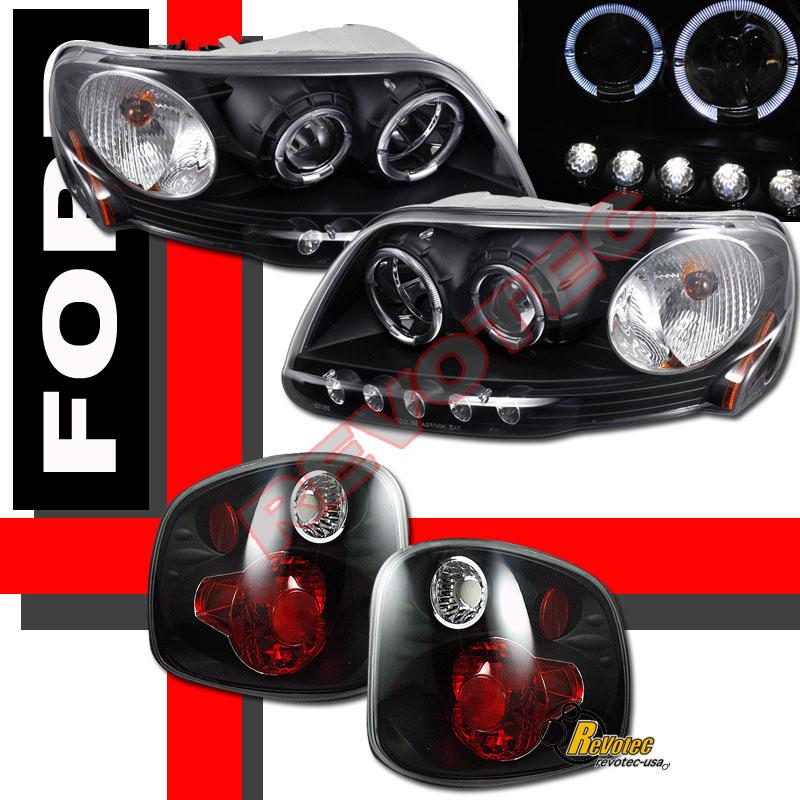 ford f150 svt supercrew black halo projector headlights tail lights. Black Bedroom Furniture Sets. Home Design Ideas