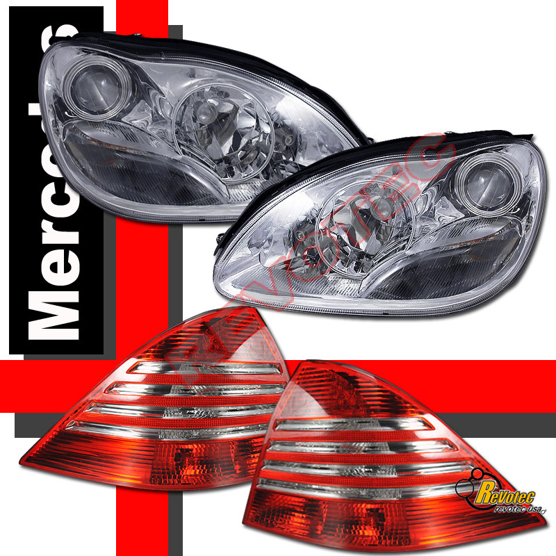 00 05 mercedes benz w220 s class s430 projector headlights for Mercedes benz s430 headlight replacement
