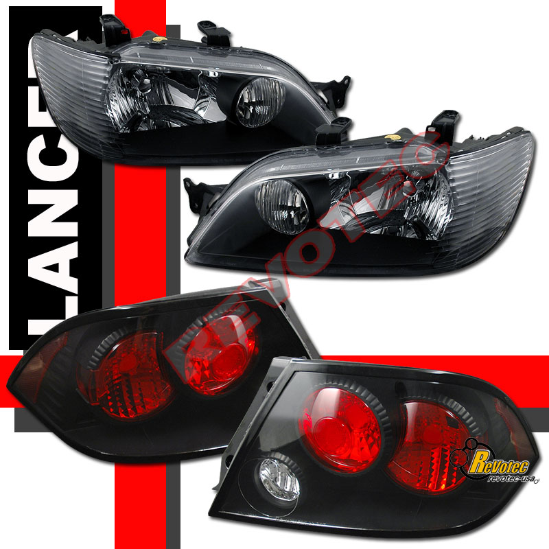 02 03 Mitsubishi Lancer LS ES OZ Headlights & Tail Lights