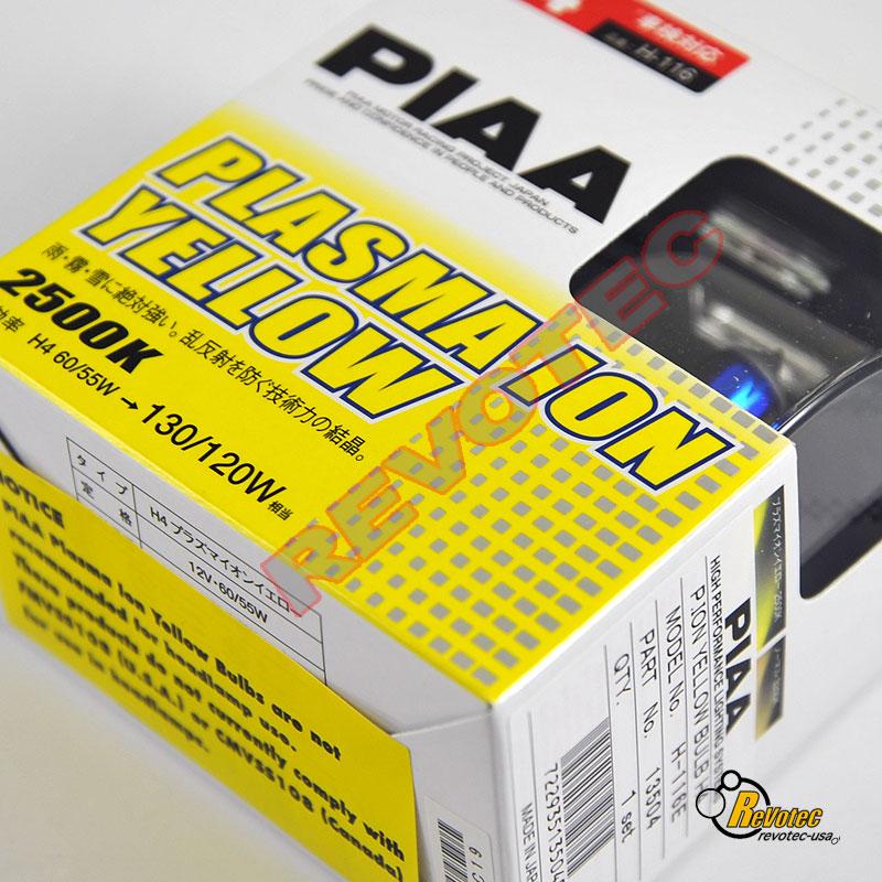 Piaa H4 Plasma Ion Yellow Fog Light Bulbs Twin Pack 13504