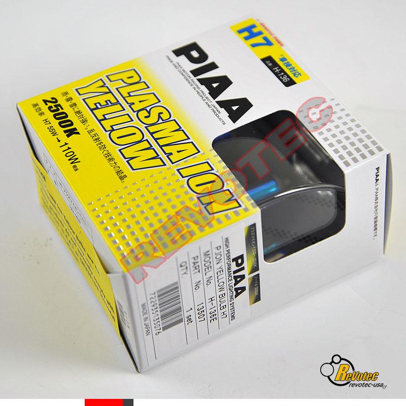 Piaa H7 H-136 Plasma Ion Yellow Fog Light Bulbs Twin Pack