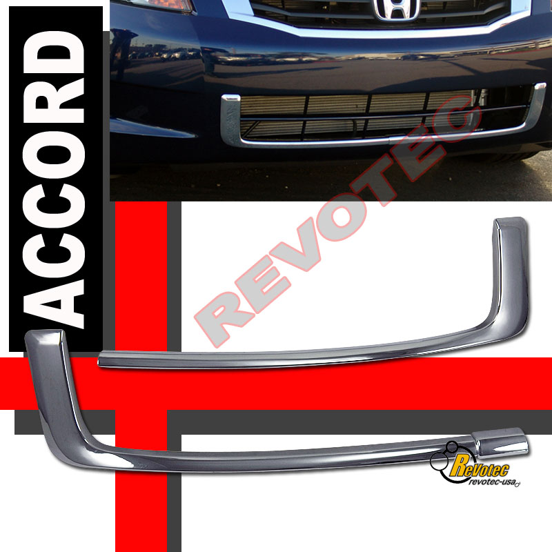 Chrome Front Bumper Lower Grille Trim For 08-10 Honda