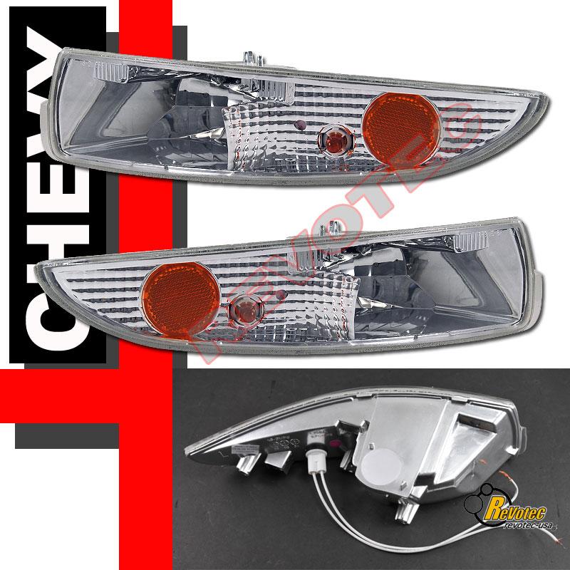 98 99 00 01 02 Chevy Camaro Z28 Halo Rim Headlights Bumper Signal Lights 4pcs