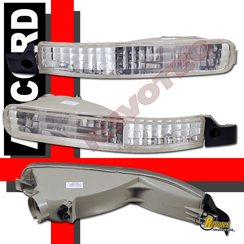 1992 1993 Honda Accord Euro Bumper Signal Lights 1 Pair