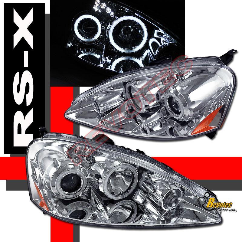 05 06 Acura RSX Dual CCFL Halo Angel Eyes LED Projector