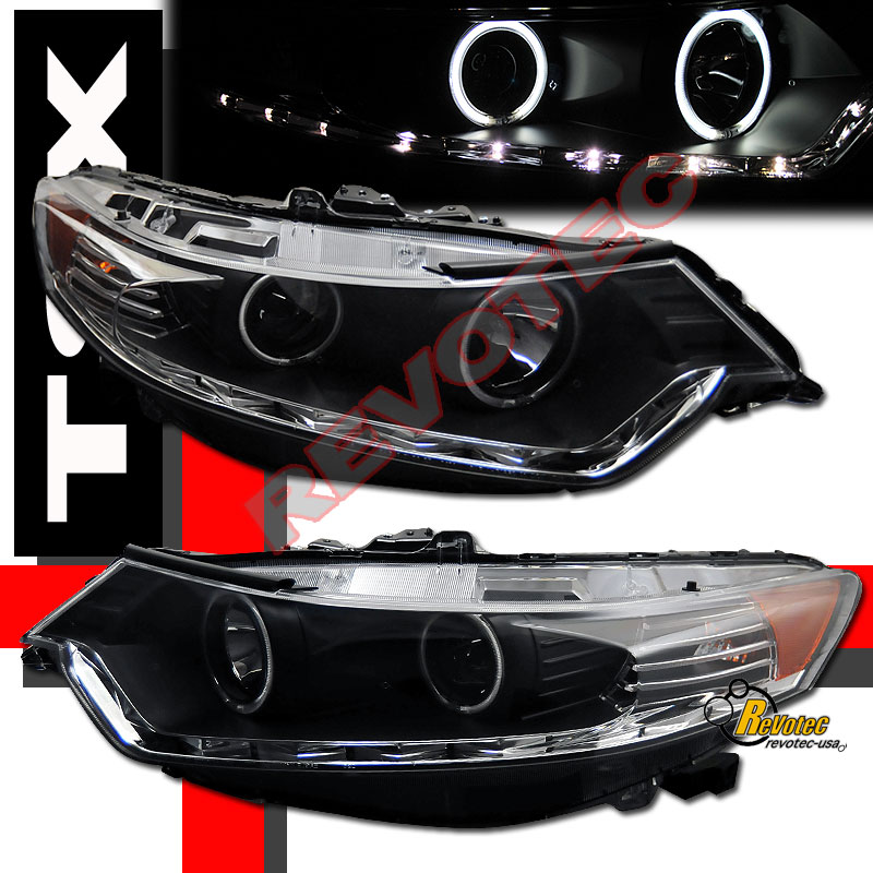 2009-2011 ACURA TSX LED CCFL PROJECTOR HEADLIGHTS R8