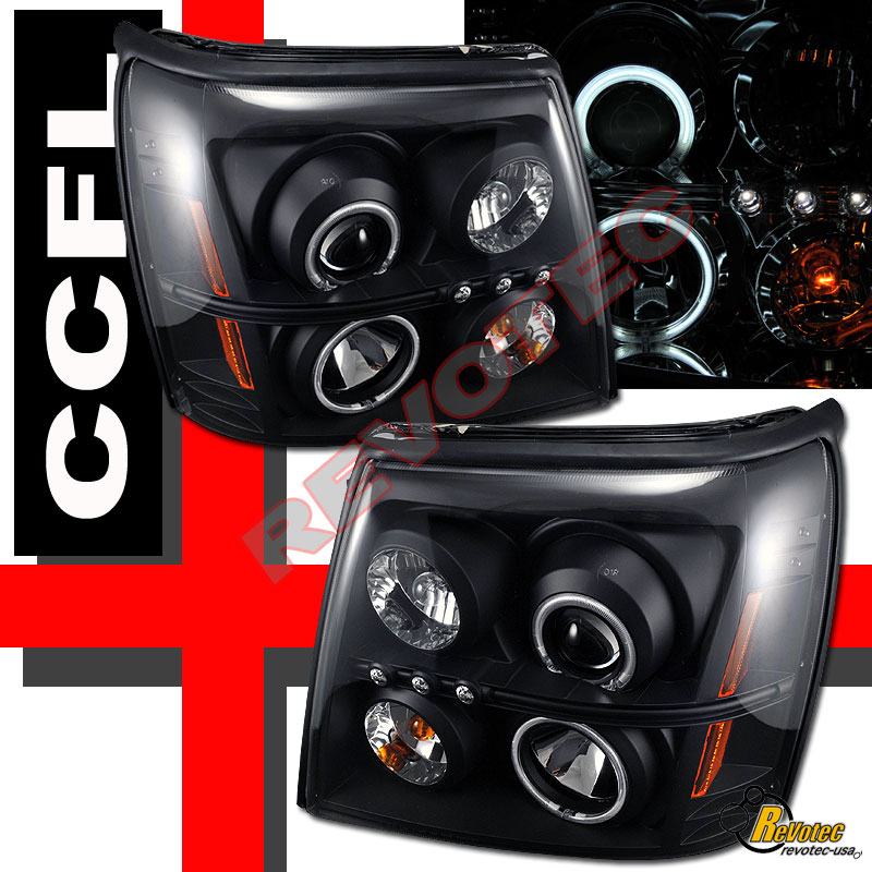 2002 Cadillac Escalade EXT CCFL Halo LED Projector