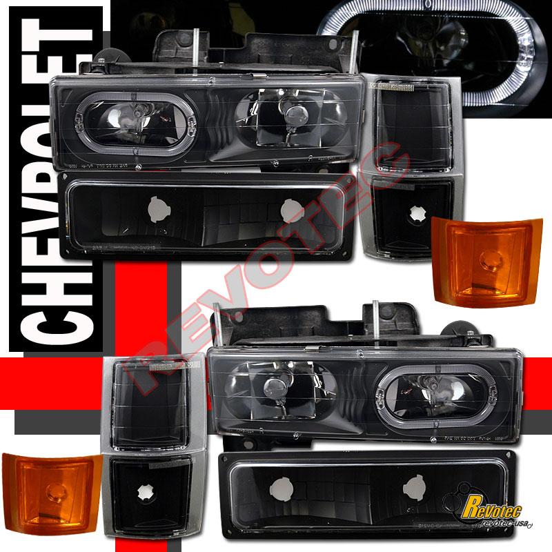 1994 1998 chevy suburban silverado halo headlights set. Black Bedroom Furniture Sets. Home Design Ideas
