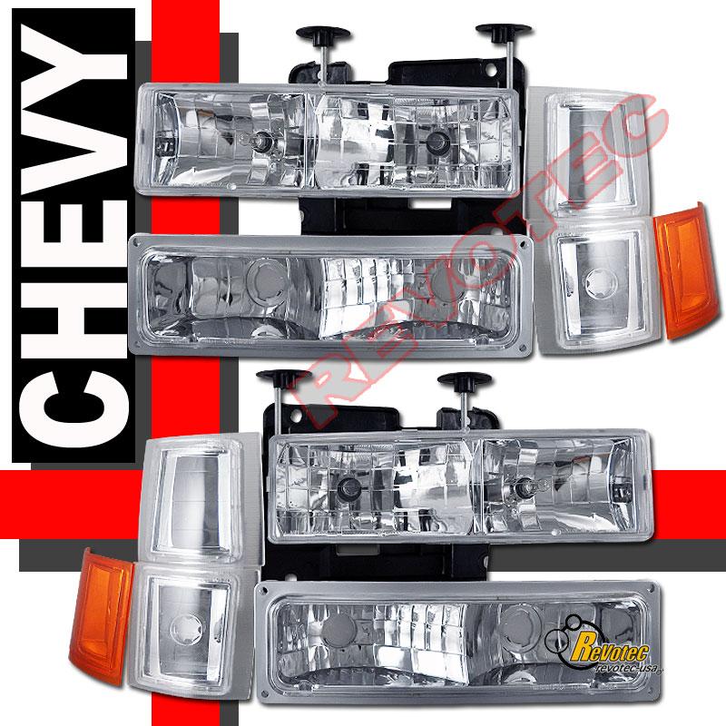 94 98 Chevy C10 C K 1500 2500 3500 Silverado Headlights