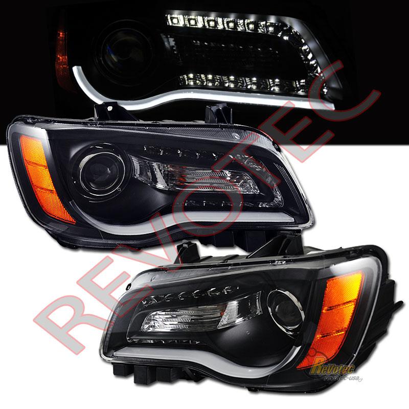 11 12 13 14 Chrysler 300 Led Bar Projector Headlights