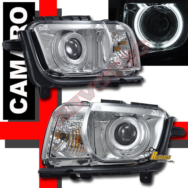 2010-2013 Chevy Camaro LS LT SS Chrome CCFL Halo Projector