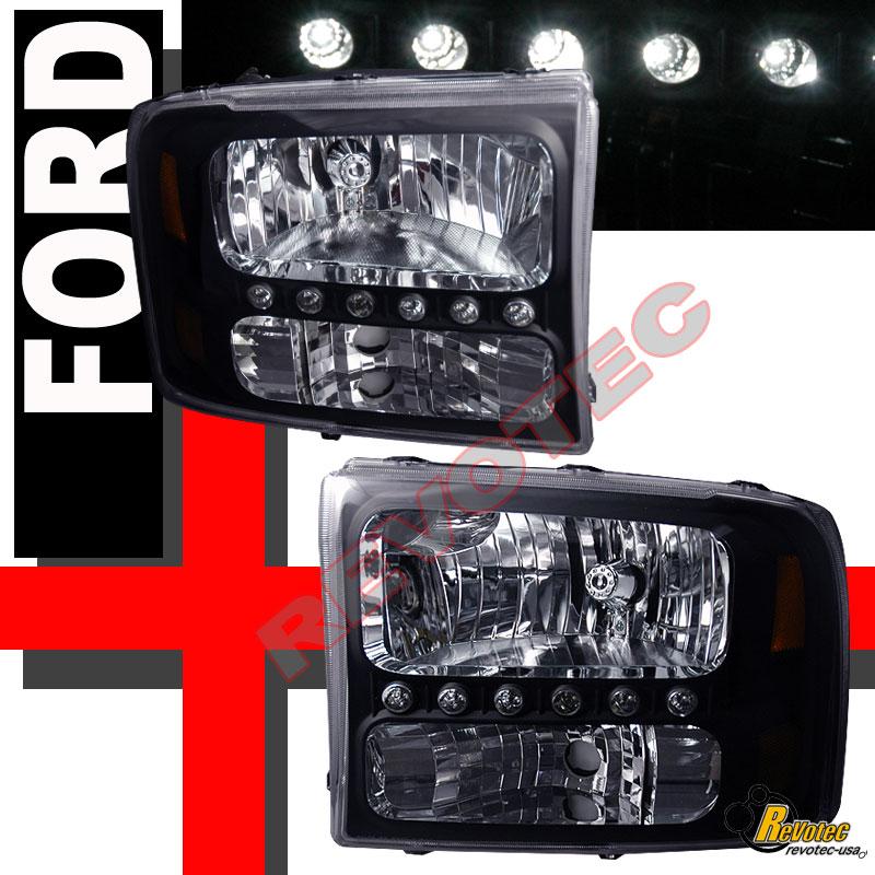 99 04 ford f250 f350 super duty pickup black led. Black Bedroom Furniture Sets. Home Design Ideas