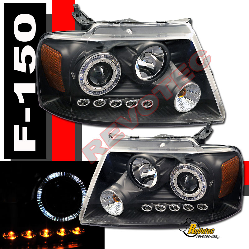 04 05 06 07 08 Ford F150 Halo LED Projector Headlights