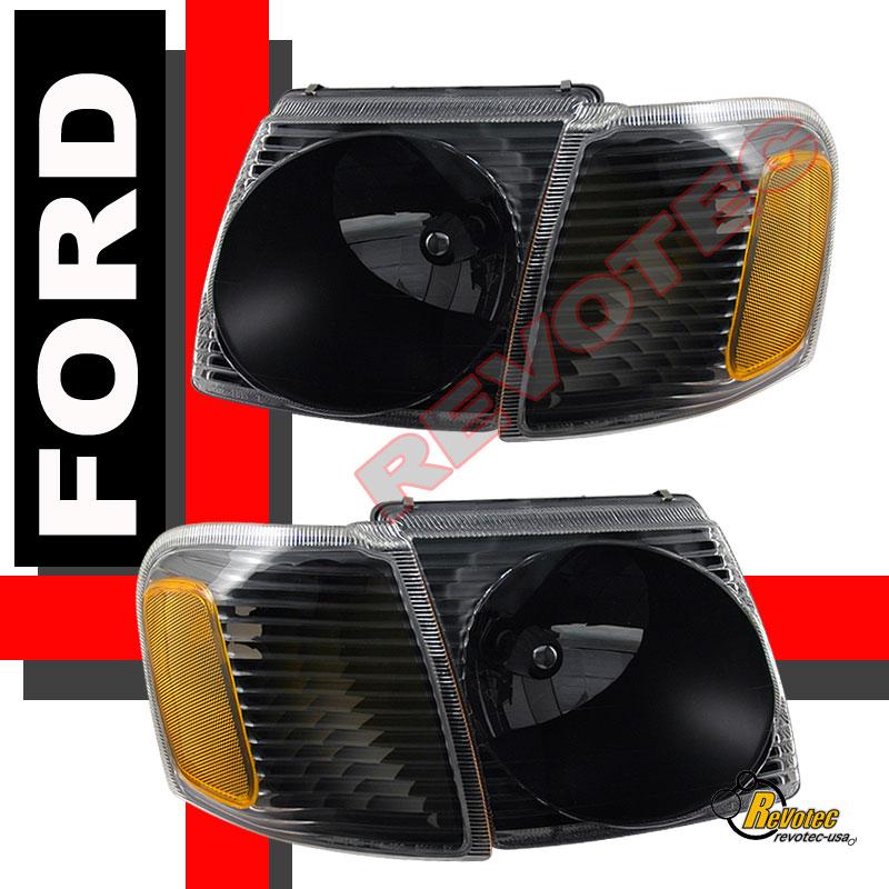 01 02 03 04 05 ford explorer sport trac headlights corner tail lights black ebay. Black Bedroom Furniture Sets. Home Design Ideas