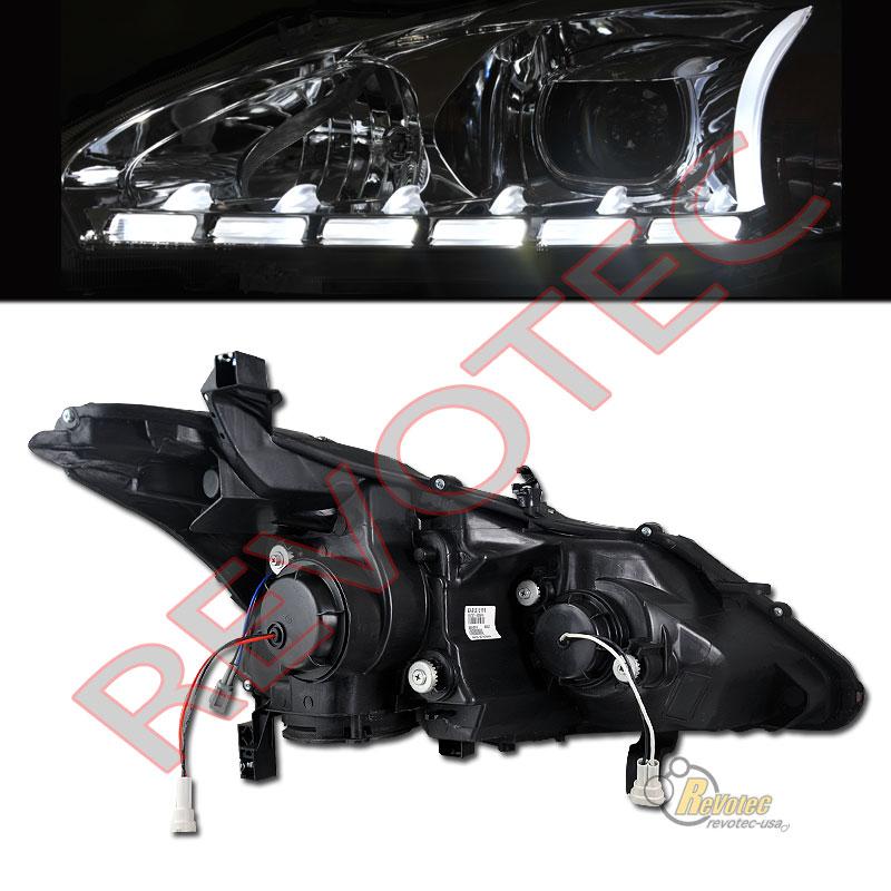 Black LED Bar Projector Headlights For 2013-2015 Nissan ...