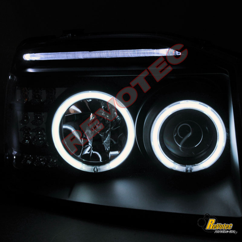 03 04 NISSAN FRONTIER CCFL HALO PROJECTOR HEADLIGHTS & LED TAIL LIGHTS