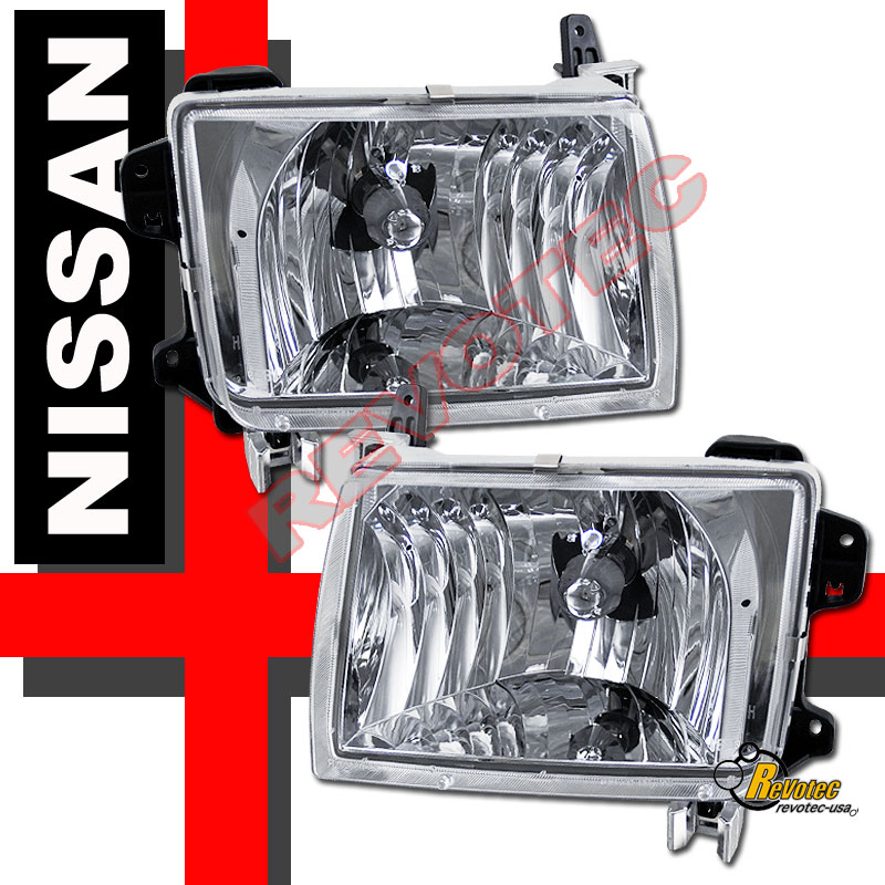 Euro Clear Chrome Headlights For 98 00 Nissan Frontier