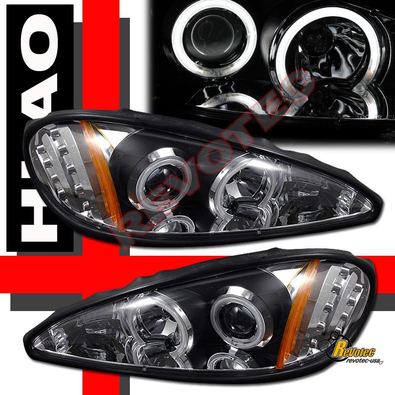 99 05 pontiac grand am dual ccfl halo led projector headlights black ebay