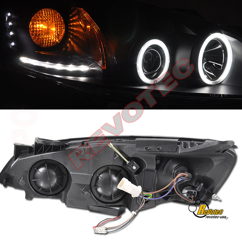 find 05 06 07 08 09 pontiac g6 ccfl halo led projector headlights black 1 pair motorcycle in
