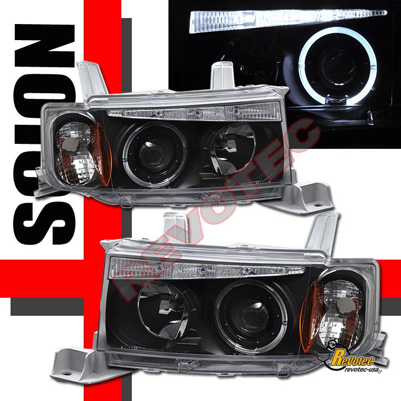 04 05 06 Scion Xb Halo Angel Eye Led Projector Headlights