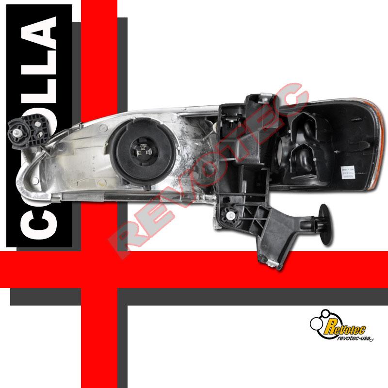 98 99 00 Toyota Corolla Headlights Corner Signal Lights & Tail Lights Black | eBay