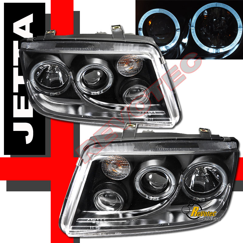 99-05 VW Jetta IV MK4 Dual Halo Angel Eyes Projector