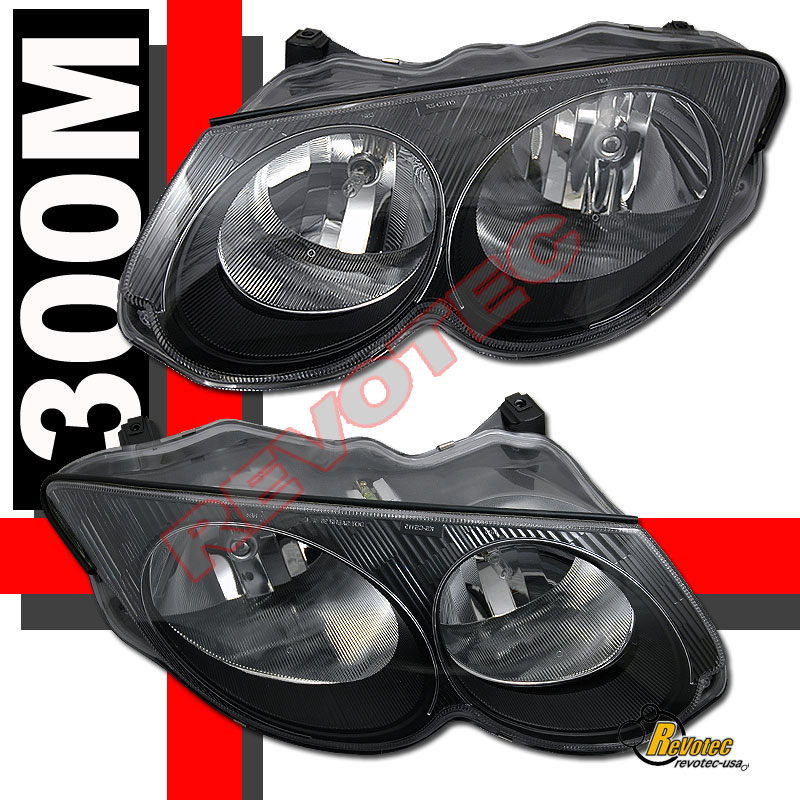 1999-2004 Chrysler 300M OE Style Black Housing Headlights