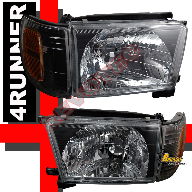 96 97 98 Toyota 4Runner Black Headlights Corner Signal
