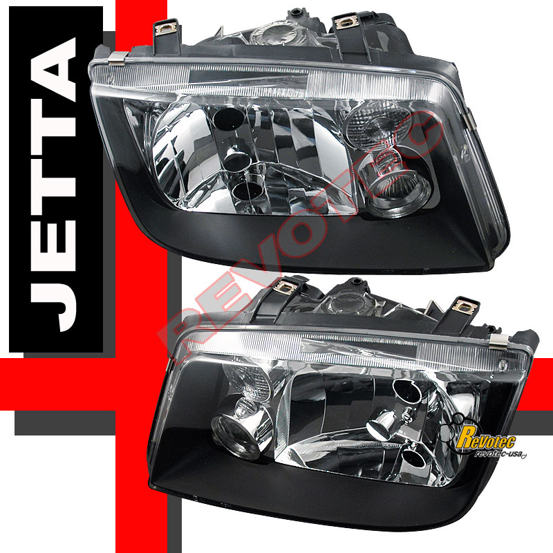 1999-2005 VW Jetta IV MK4 OE Style Black Headlights Lamps