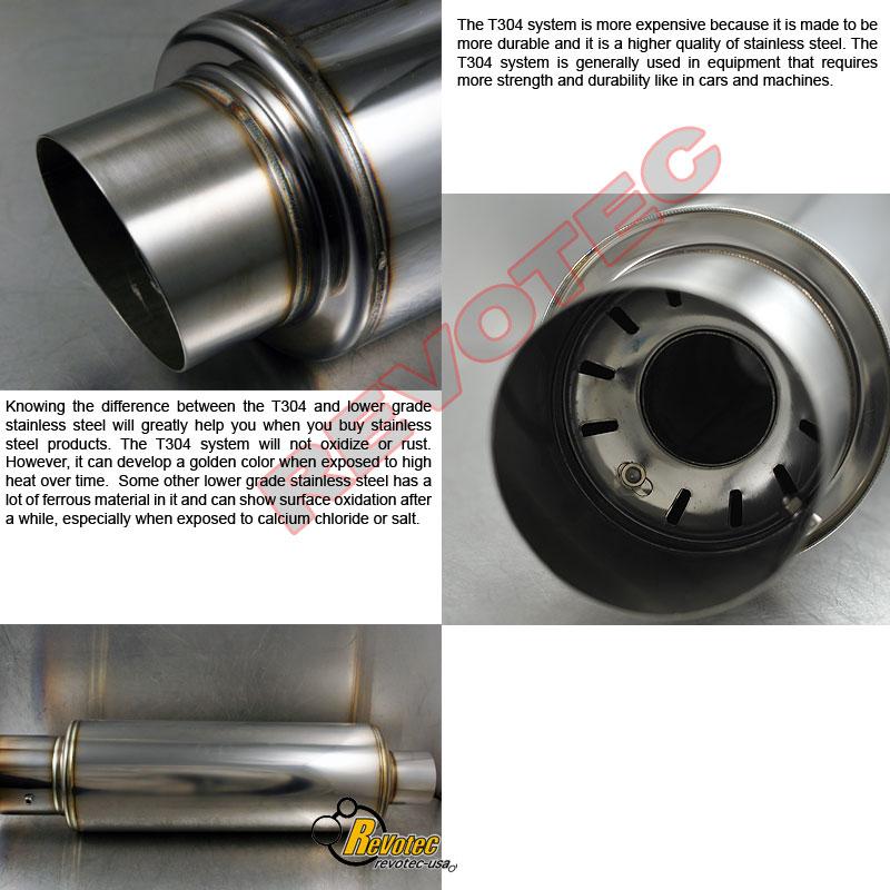 """Universal 3.5"""" Fireball Muffler Exhaust Tig Welding T304"""