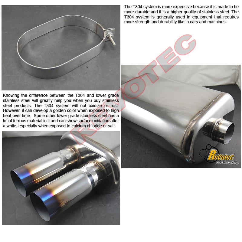 "Universal Dual DTM Burnt Tip Exhaust Muffler 2.5"" Inlet"