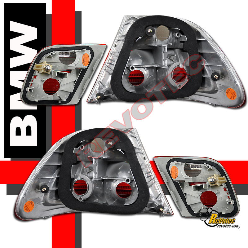 Bmw Z3 Tail Lights: 00-02 BMW E46 2 Door Coupe Red Smoke Tail Lights 1 Pair