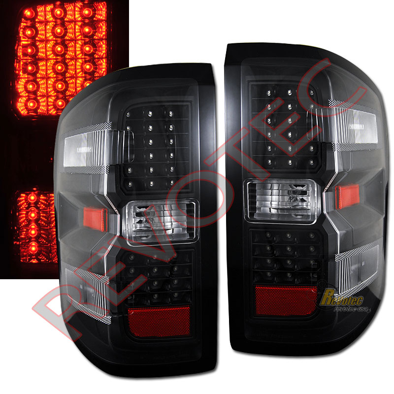 2014 2015 Chevy Silverado Lt Ltz 1500 2015 2500hd 3500hd Led Tail Lights Black Ebay