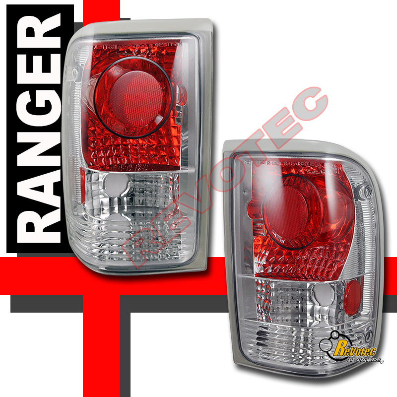 1993 1997 Ford Ranger Xl Xlt Stx Pickup Chrome Tail Lights
