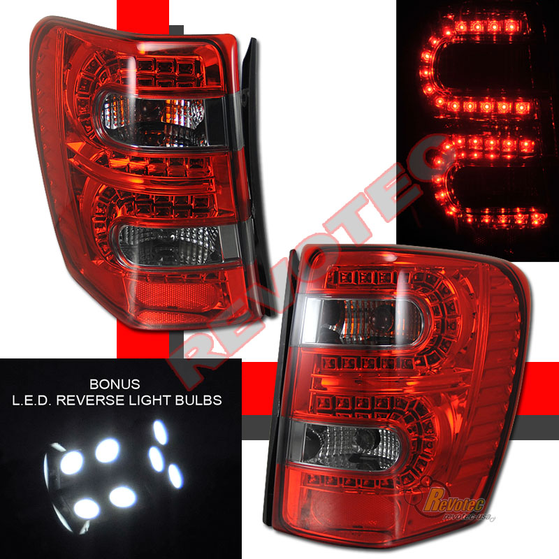99 04 Jeep Grand Cherokee Led Tail Lights Red Smoke W Led