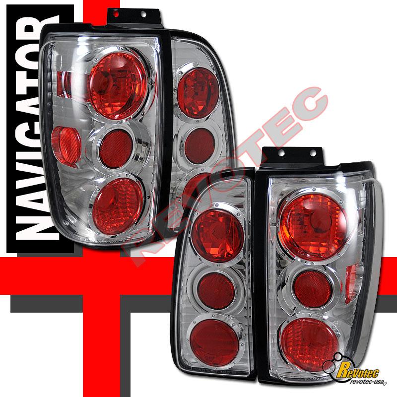 1998-2002 Lincoln Navigator Tail Lights Chrome 1 Pair 99