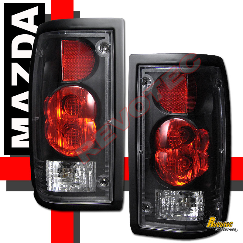 mazda truck tail light wiring 86-93 mazda b2000 b2200 b2600 pickup black tail lights ...