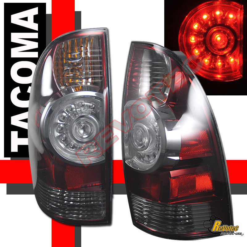 2009 2010 2011 toyota tacoma led tail lights lamps smoke. Black Bedroom Furniture Sets. Home Design Ideas