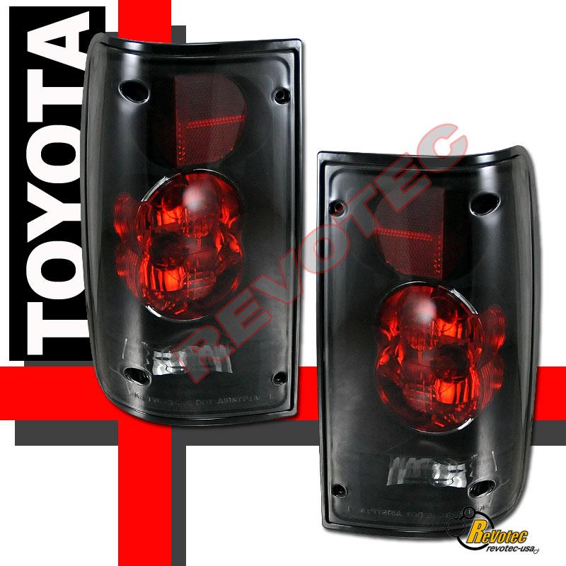 94 Toyota Pickup Truck: 89-95 Toyota Pickup Black Dark Smoke Tail Lights Lamps RH