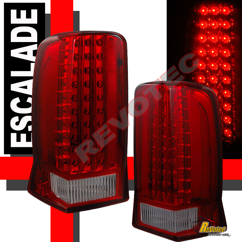 2002 Cadillac Escalade Ext For Sale: 2002-2006 Cadillac Escalade Red LED Tail Lights Lamps RH
