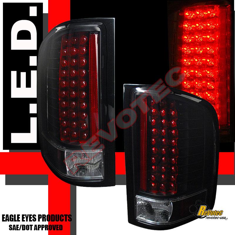 07 13 Chevy Silverado 1500 2500 3500 Black Led Tail Lights